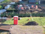 Opgraving van de oude fundering, 2012